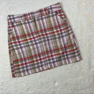 J Crew Plaid Mini Skirt Fall colors 100% cotton